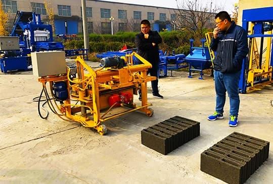 Manual Brick Making Machine Testing