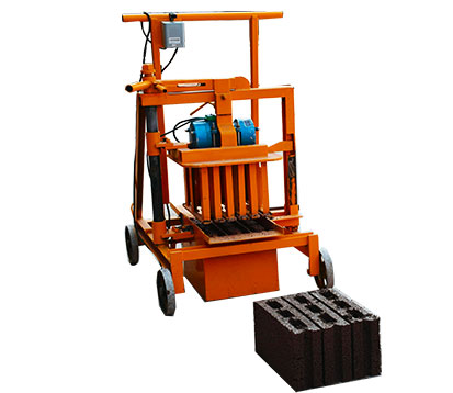 QMJ2-40 Mobile Hollow Block Molding Machine