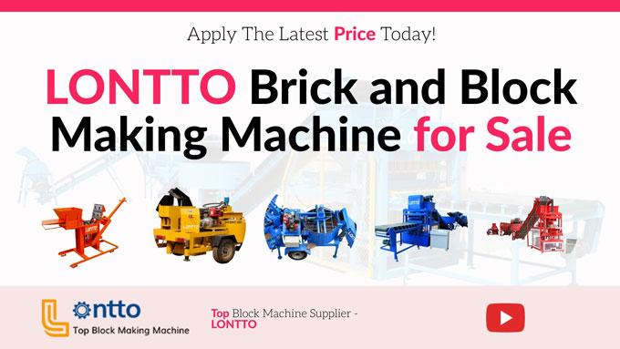 Lontto interlocking brick making machine