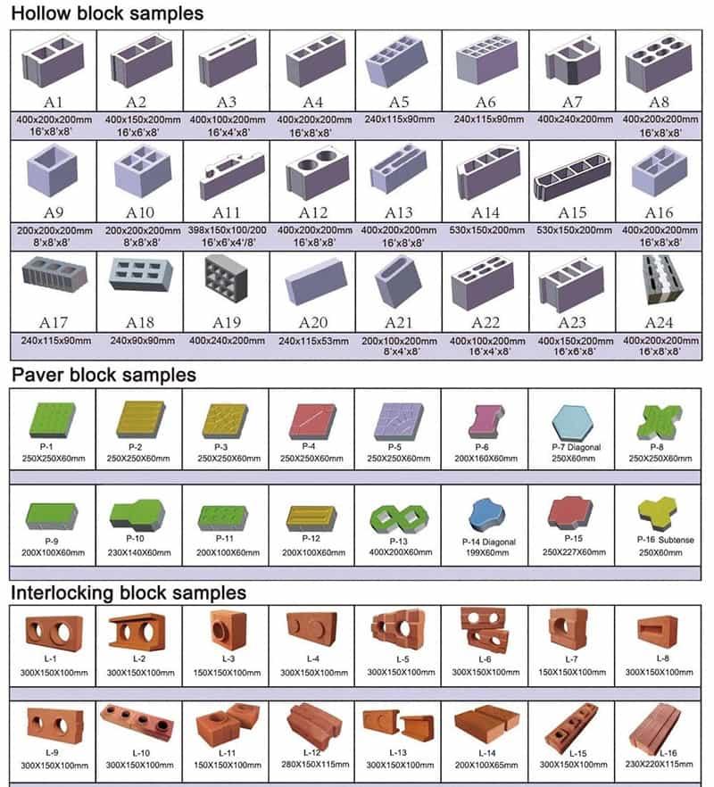cement blocks samples for you choosing