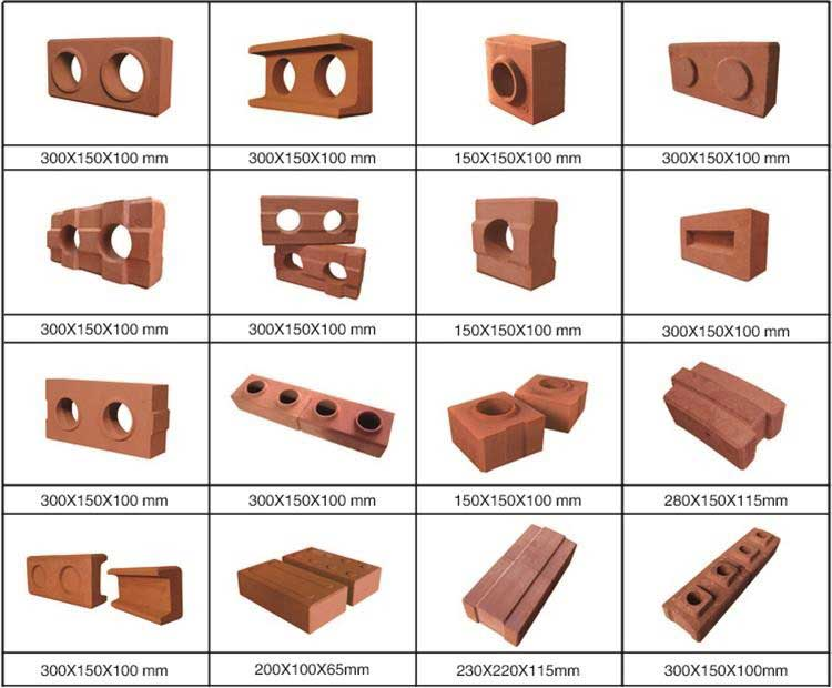 clay brick samples can be produced