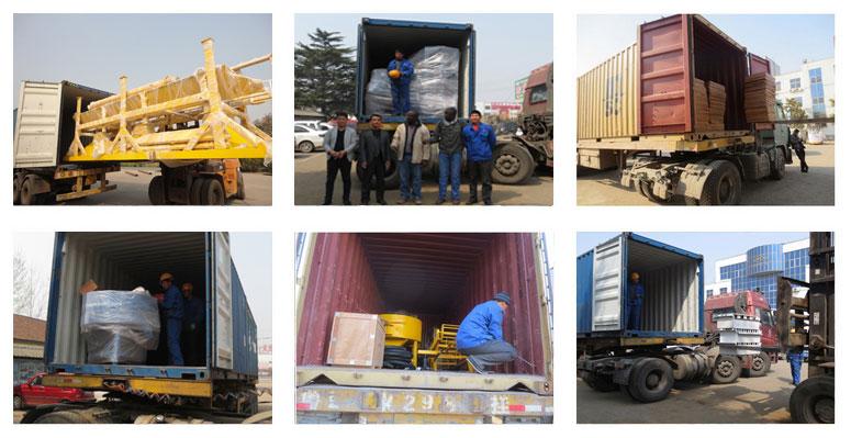 concrete block machine delivery