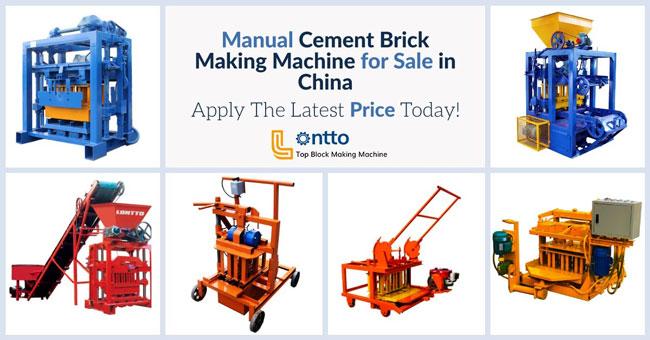 manual concret block making machine chosen