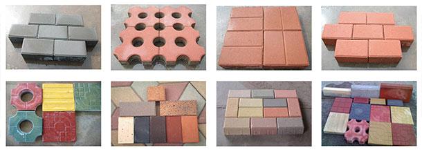 paver blocks used in road