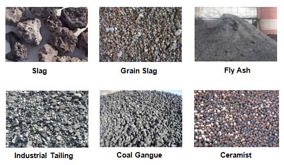 raw materials for concrete block production