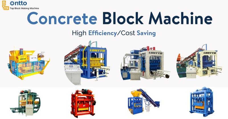 types of concrete block machine for sale